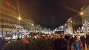 Праздничная Прага перед Новым годом -16 декабря 2017 года.